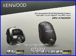NEW Kenwood DRV-A700WDP Compact HD Dash Cam with Wi-Fi & GPS, with Rear-View Camera