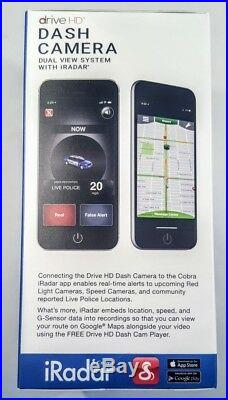 New Cobra Electronics Drive HD Dual View Dash Camera 1080p Front, 720p Rear