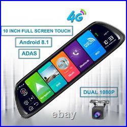 Newest Car DVR 4G ADAS 10 Android 8.1 Stream Media Rear View Mirror dash camera