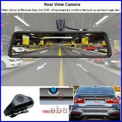 Panoramic WIFI Dash Cam 4 Cameras Lens 12Screen Android Car Rearview Mirror Dvr