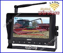 Rear View Backup Camera System 7 Digital Wireless Monitor, No Interference