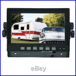 Rear View Back Up Reverse Camera System 7 LCD For Trailer Fifth Wheel Rv Semi