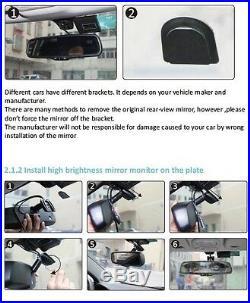 Rear View Mirror Monitor 4.3 for Toyota Tacoma 05-13 Aftermarket Backup Camera