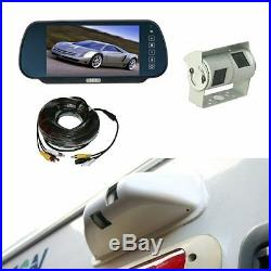 Rear view system 7 Mirror Monitor & Double twin CCD Camera and Protective Cowl