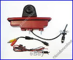 Renault Trafic Vivaro LED Brake Light Rear View Reversing Colour Camera PAL
