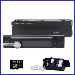 Reverse Camera +1 Din 7 In dash Deck Car Stereo DVD Player Ipod BT Radio SD TV