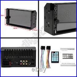 Reverse Camera+7 Double 2DIN Car Stereo Non-DVD Mirrorlink For GPS Map Android