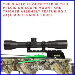 SA Sports Empire Diablo Reverse Cam Compound Crossbow Package, 385 FPS