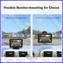 Solar Wireless Reversing Camera Kit 4.3'' Monitor + HD Rear View Backup Camera
