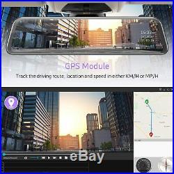 TOGUARD 12 2K Mirror Dash Cam Voice Control Rear View Touch Screen Car Camera