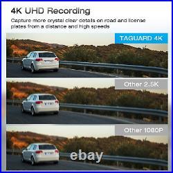 TOGUARD Dual Dash Cam 4K GPS 12 Mirror Backup Camera Car Rear View DVR Recorder