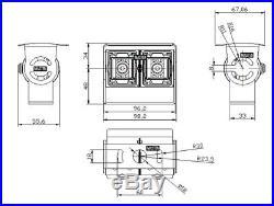 - Truck Van Dual Rear View Black LED Reversing Sony CCD 700 Camera Full HD Color