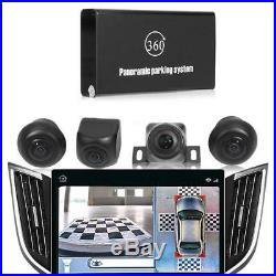 Universal 360° Bird View Panorama System 720P Car DVR Recording Rear View Camera