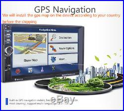 Universal 7 Car HD Radio MP5 Player GPS Navigation Rear View Camera Bluetooth