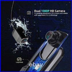 VanTop H609 Dual 1080P Mirror Dash Cam with 10 IPS Full Touch Screen