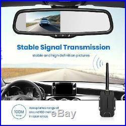 Wireless 4.3'' LCD Car Rear View Mirror Monitor + Reversing Backup Camera Kit