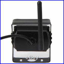 Wireless 7 Monitor Rear/Side View Back up Reverse 4 Camera Kit For Truck VAN RV