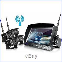 Wireless Backup Camera 7 Monitor Waterproof Car Rear View Reversing Park WX04