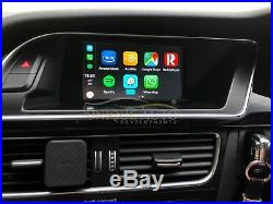 Wireless CarPlay Navigation Reverse Camera Interface Audi A4 B8 2007-15 Concert