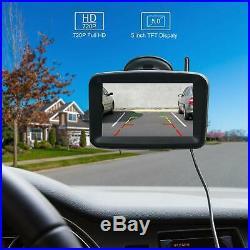 Xroose F4 Backup Camera License Wireless 5 Monitor HD Kit Rear View Waterproof