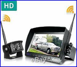 ZEROXCLUB Wireless Backup Camera Digital With 7 Monitor System Kit Rear View