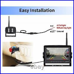 ZEROXCLU Wireless Backup Camera System 7 Monitor Waterproof Nite View Rear Kit